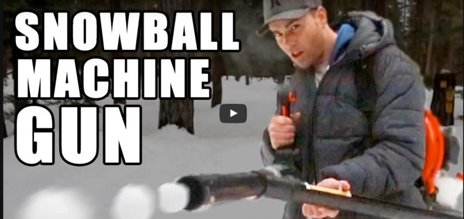 Mitraillette à boules de neige