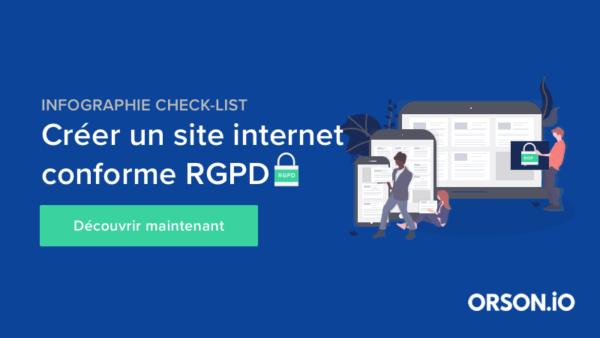 Site confirme RGPD avec Orson.io